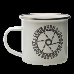 lewis burn 8 enamel mug